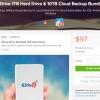 [Alerta Trato] IDrive 1TB Wi-Fi en disco duro y 1 año de IDrive Pro 10TB Nube de copia de seguridad Bundle Por $ 97 (79% de descuento)